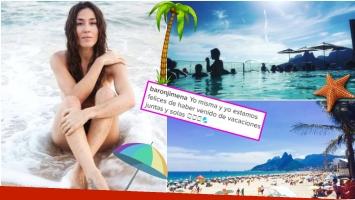 Jimena Barón se fue de vacaciones sola a Brasil (Fotos: Instagram)