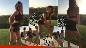 El reggaetón súper sexy de Pampita con sus amigas en Punta del Este (Foto: Twitter)