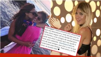 La tierna foto (con dedicatoria incluida) de Candela Ruggeri a Barbie Vélez tras la reconciliación (Fotos: Instagram)