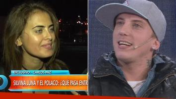 Silvina Luna y los rumores de romance con El Polaco. Fotos: Capturas TV y Web)