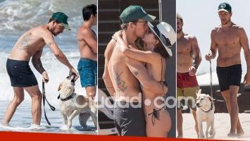 Las fotos de Nicolás Vázquez y Gimena Accardi en la playa de Mar del Plata
