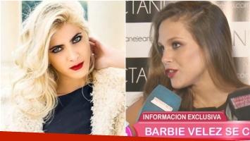 La reacción de Barbie Vélez cuando le preguntaron si perdonaría que una amiga esté con su candidato (Fotos: Web y Captura)