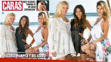 Pampita pasó junto a Mery del Cerro para la tapa de una revista (Fotos: revista Caras)