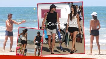 Gastón Pauls y su novia, Valentina Barrios Hackembruch, en Punta del Este.