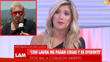 Laurita Fernández reveló la charla privada que tuvo con Fede Bal tras su confesión de amor en TV (Foto: web)