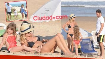 Las vacaciones familiares de Mariana Fabbiani en Punta del Este (Fotos: GM Press)