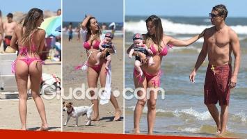 Floppy Tesouro y su lomazo en Punta del Este, a cuatro meses de ser madre de Moorea junto a Rodrigo Fernández Prieto