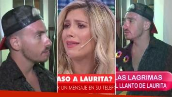 La reacción de Fede Bal tras el llanto de Laurita Fernández en TV