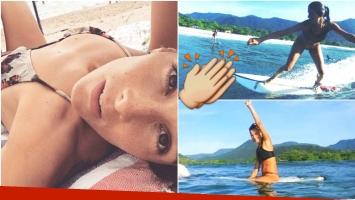 Las fotos de Juana Viale en sus vacaciones en Brasil (Fotos: Instagram)