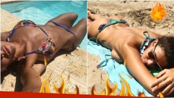 Ivana Nadal incendió Instagram con una foto en topless (Fotos: Instagram)