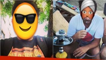 El famoso que se relajó en las playas de San Clemente fumando en narguile. Foto: Instagram