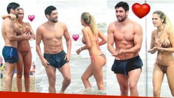 Las fotos de Facundo Moyano con su novia, Eva Bargiela, en Mar del Plata (Fotos: revista Gente)