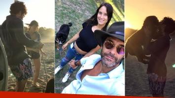 Los días de amor de Mariano Martínez y Camila Cavallo en la playa (Foto: Instagram)