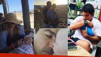Las vacaciones de Amalia Granata junto a Leo Squarzon y su bebé en Punta del Este (Foto: Instagram)