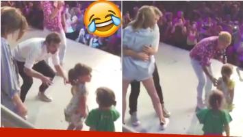 El divertido video de la hija de Pedro Alfonso y la del Polaco bailando en el escenario (Fotos: Captura)