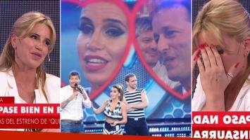 Flor Peña habló sobre los rumores de romance con Insaurralde que surgieron en 2012. Fotos: Web y Capturas TV.