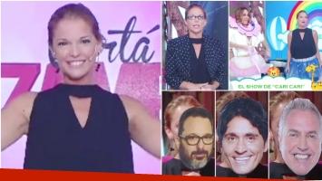 Mirá el divertido momento de Carina Zampini en el debut de Cortá por Lozano (Fotos: Web)