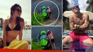 El video del beso entre Silvina Luna y el Polaco en Carlos Paz