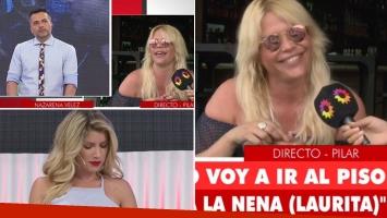 Nazarena Vélez le dio un móvil a Ángel de Brito… y ninguneó a Laurita Fernández que estaba en el piso (Foto: web)