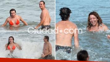 Lizy Tagliani y Mike Amigorena se divirtieron juntos en Mar del Plata. (Foto: GM Press - Ciudad.com)