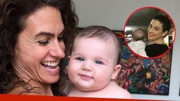 Florencia Raggio, feliz con Toribio Reppeto en brazos. (Foto: Instagram)