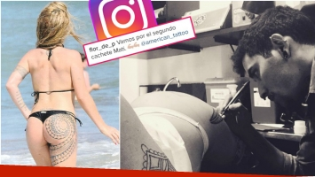 Florencia Peña redobló la apuesta y se tatuó el otro cachete de la cola (Fotos: revista Gente e Instagram)