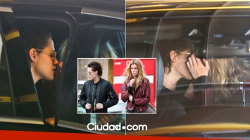 Kristen Stewart y Stella Maxwell a los besos en Milán. Fotos: Grosby Group.
