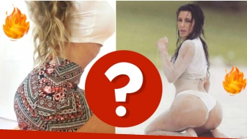 La actriz argentina que imitó la sensual pose de Kim Kardashian en su camarín (Fotos: Instagram y Web)