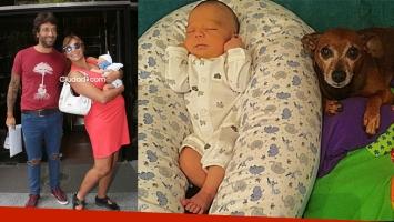 La foto súper tierna de la carita de Félix, el bebé de Conti y Capristo. Foto: Instagram y Ciudad.com.