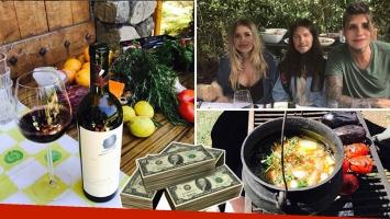 Marcelo Tinelli comió un asado y descorchó un vino de más de 365 dólares la botella. (Foto: Instagram)