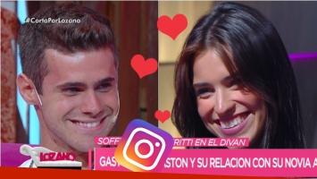 Gastón Soffritti contó en Cortá por Lozano que conoció a su novia Agustina Agazzani por Instagram. Foto: Captura