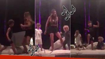 Los divertidos videos de Pampita bailando con Bautista, Beltrán y Benicio