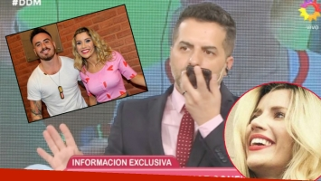 La elocuente reacción de Laurita Fernández luego de que Ángel de Brito le preguntara si está de novia con Fede Bal (Fotos: Captura y Web)