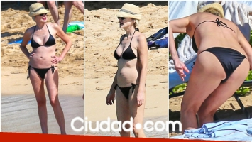 Las vacaciones de Sharon Stone en Hawaii (Fotos: Grosby Group)