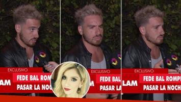El fastidio de Fede Bal ante las críticas por su coqueteo romántico con Laurita: