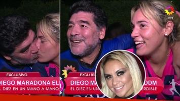 Diego Maradona y Rocío Oliva, muy picantes con Verónica Ojeda