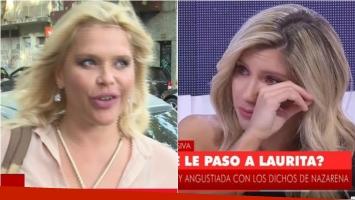 La reacción de Nazarena tras el ¡infragant total! de Fede Bal y Laurita. Foto: Captura