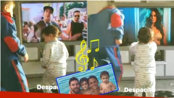 El tierno video de los hijos de Leo Messi bailando regaettón (Fotos: Captura e Instagram)