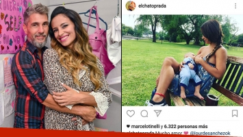 El Chato Prada y Lourdes Sánchez, felices con Valentín. (Fotos: Instagram y Web)