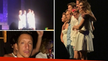 Nicolás Vázquez denunció sobre el escenario que saquearon los camarines del teatro Mar del Plata