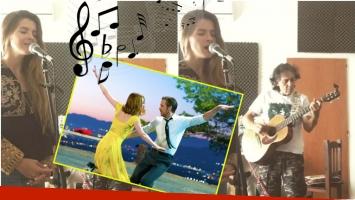 Escuchá a la China Suárez cantando el tema de La La Land (Fotos: Captura y Web)