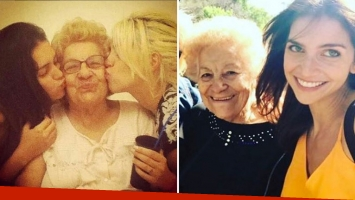 Wanda y Zaira Nara, dolidas por la muerte de su abuela Rosa. Foto: Instagram