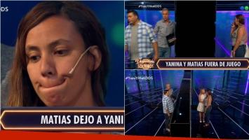 Matías y Yanina de Despedida de solteros fueron expulsados... ¡y él la dejó en vivo!: el video Foto: Captura