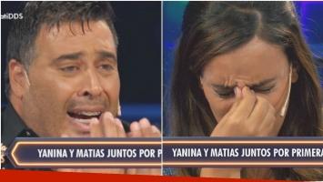 La crisis de llanto de Matías tras reencontrarse con Yanina en Despedida de solteros (Fotos: Captura)