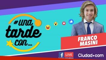 Franco Masini, invitado en #UnaTardeCon por Facebook Live.