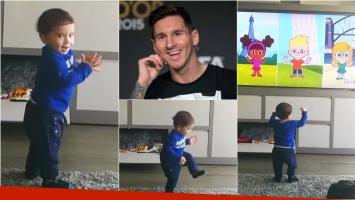 El tierno video de Mateo, el hijo de Lionel Messi, bailando. Foto: Captura