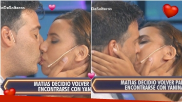 Matías y Yanina se reconciliaron en Despedida de solteros (Fotos: Captura)
