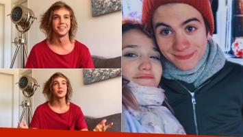 La reacción de Franco Masini cuando le preguntaron por el novio de Ángela Torres. (Fotos: #UnaTardeCon e Instagram)
