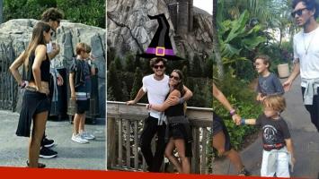 Las divertidas vacaciones de Pampita con sus hijos y Pico Mónaco en Orlando (Foto: Instagram)
