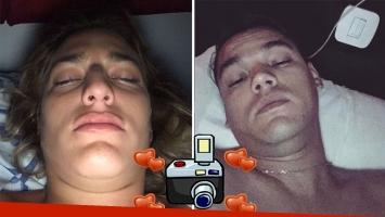 Marian Farjat y Brian Lanzelotta, retratados recién despiertos. (Foto: Instagram)